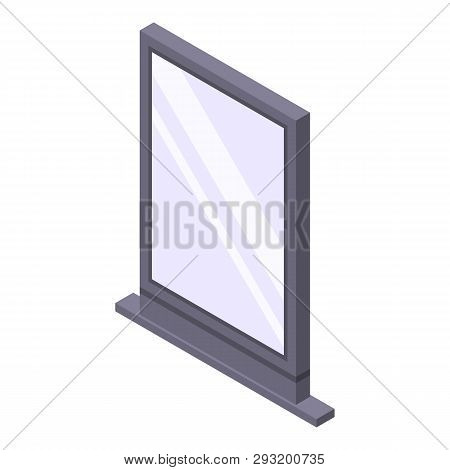 Street City Lightbox Icon. Isometric Of Street City Lightbox Vector Icon For Web Design Isolated On