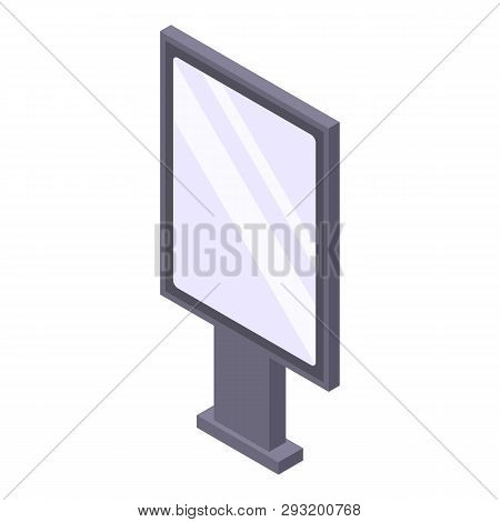 Modern Lightbox Icon. Isometric Of Modern Lightbox Vector Icon For Web Design Isolated On White Back