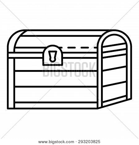 Pirate Dower Chest Icon. Outline Pirate Dower Chest Vector Icon For Web Design Isolated On White Bac