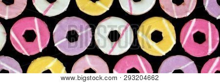 Biscuits Abstract Background, Food Design - Banner / Panorama.