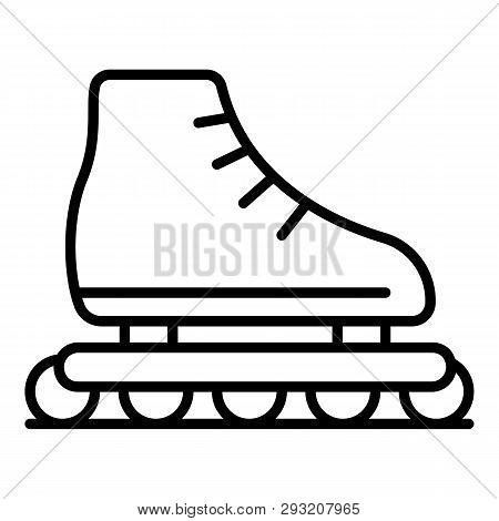 Kid Inline Skates Icon. Outline Kid Inline Skates Vector Icon For Web Design Isolated On White Backg
