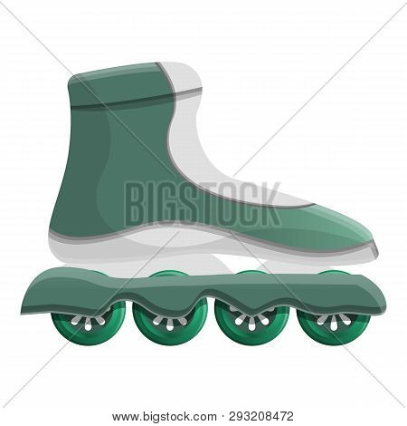 Inline Skates Icon. Cartoon Of Inline Skates Vector Icon For Web Design Isolated On White Background