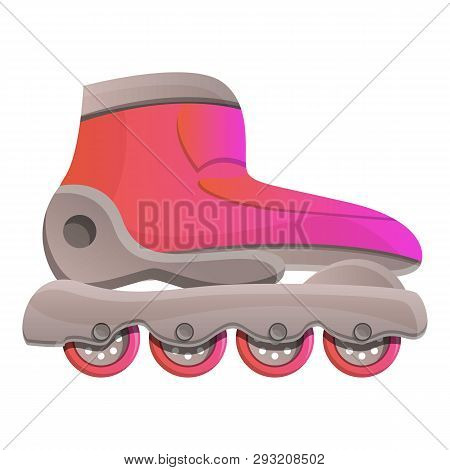 Modern Inline Skates Icon. Cartoon Of Modern Inline Skates Vector Icon For Web Design Isolated On Wh