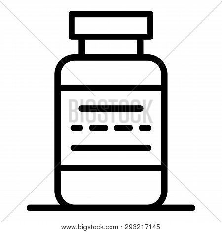 Sport Protein Pills Icon. Outline Sport Protein Pills Vector Icon For Web Design Isolated On White B