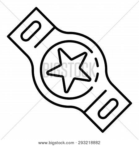 Boxing Champion Belt Icon. Outline Boxing Champion Belt Vector Icon For Web Design Isolated On White