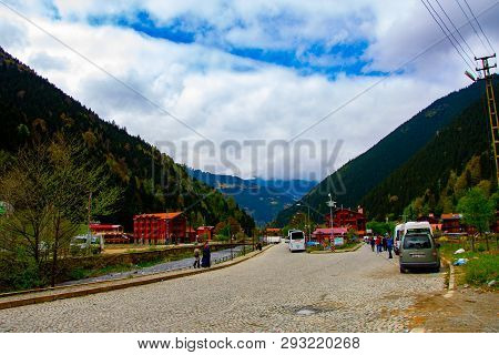 Wonderful Landscape Of The Uzungol In The City Of Trabzon, 22 April 2018