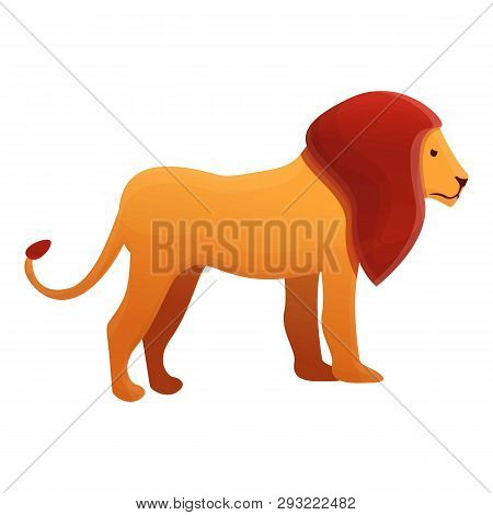 Savanna Lion Icon. Cartoon Of Savanna Lion Vector Icon For Web Design Isolated On White Background