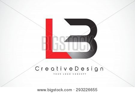 Red And Black Lb L B Letter Logo Design In Black Colors. Creative Modern Letters Vector Icon Logo Il
