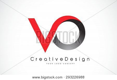 Red And Black Vo V O Letter Logo Design In Black Colors. Creative Modern Letters Vector Icon Logo Il