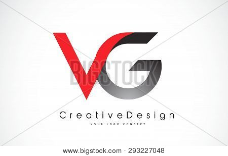Red And Black Vg V G Letter Logo Design In Black Colors. Creative Modern Letters Vector Icon Logo Il