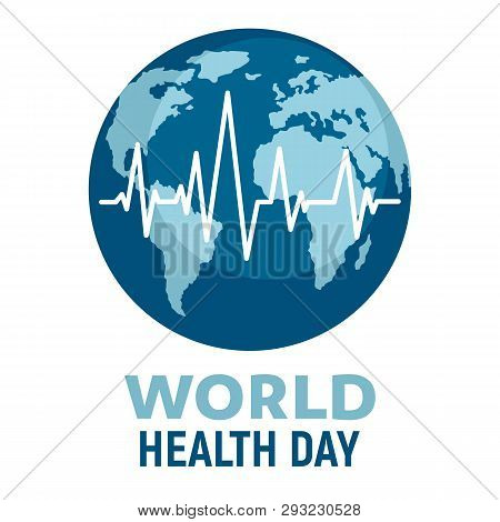 World Health Day Illustration. Wellness, Medical Prevention, Healthcare And Medicare Day. Global Med