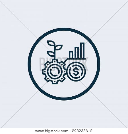 Money Growth Icon Vector Icon On White Background. Money Growth Icon Modern Icon For Graphic And Web