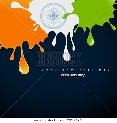 stylish vector indian flag design illustration