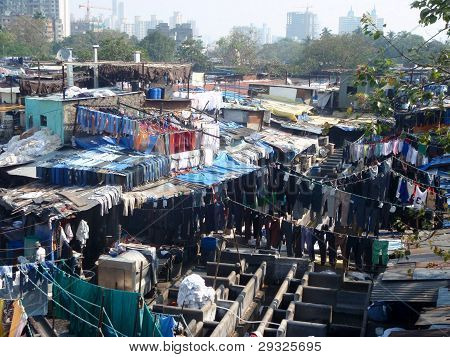 Dhobi Ghat laundry slum (India)