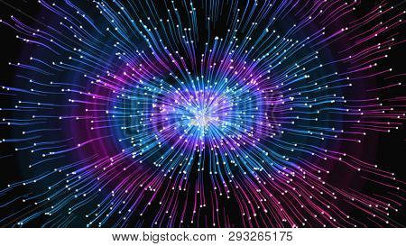 Bright Abstraction - Impulses In Different Directions, Distortion Of Space, Univers , 3d Rendering