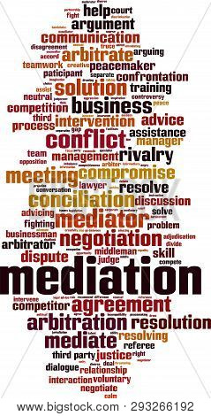 Mediation Word Cloud Vector & Photo (Free Trial) | Bigstock