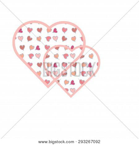 Lot Of Small Hearts Inside The Big Heart