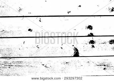 Vector Wooden Texture. Abstract Background, Old Wood Wall, Horizontal Planks. Overlay Illustration O