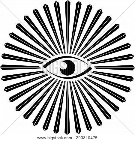 Eye Of Providence Illuminati Freemasonry Triangle  Power Illustration