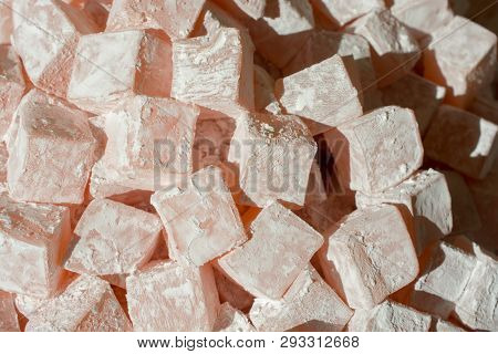 Load of traditional turkish delight lokum candy poster