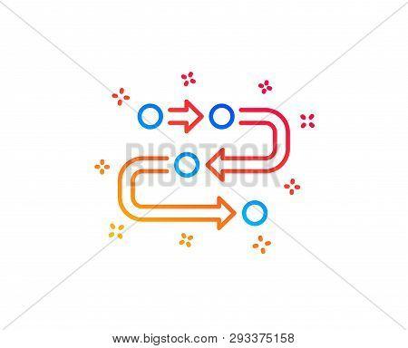 Methodology Line Icon. Development Process Sign. Strategy Symbol. Gradient Design Elements. Linear M