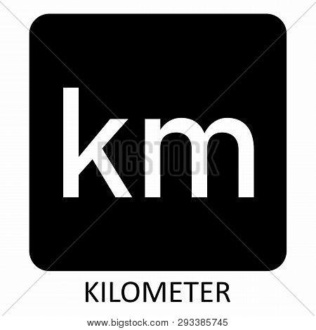 The White Kilometer Symbol Illustration On Dark Background