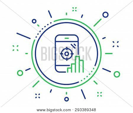 Seo Phone Line Icon. Search Engine Optimization Sign. Aim Target Symbol. Quality Design Elements. Te
