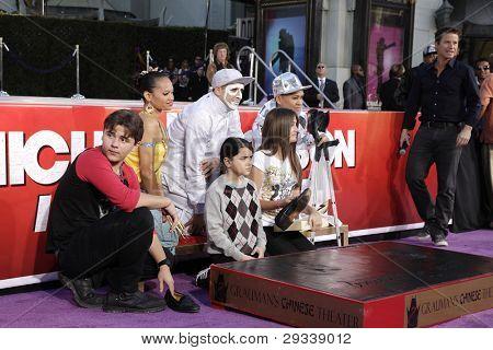 LOS ANGELES - JAN 26: Prince Jackson, Blanket Jackson, Paris Jackson at the hand + footprint ceremony honoring Michael Jackson at Grauman's Chinese Theater on January 26, 2012 in Los Angeles, CA