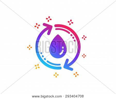 Water Drop Icon. Recycle Clean Aqua Sign. Refill Liquid Symbol. Dynamic Shapes. Gradient Design Refi