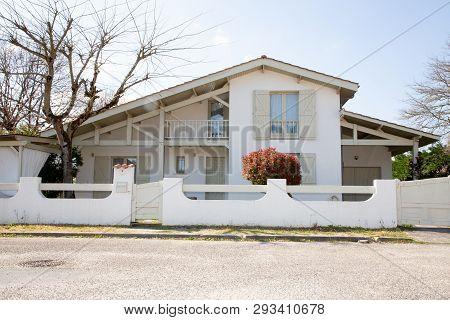 Modern Spain French Landes Basque Mansion  Style Villa House