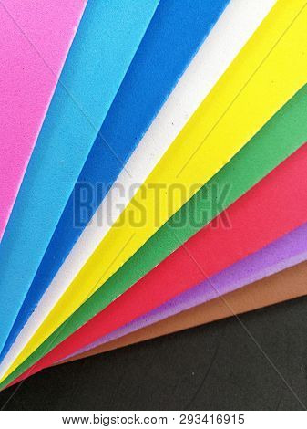 Colorful foam sheet for craft work