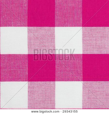 Real seamless pattern of gingham traditional tablecloth suitable for 3d modeling