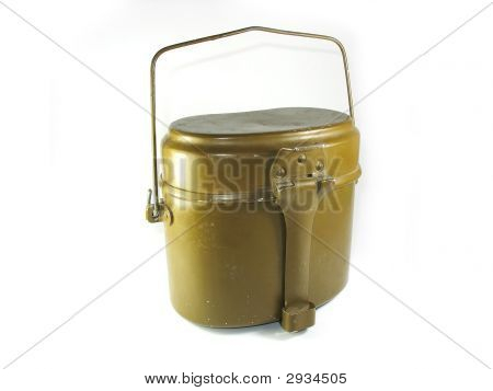 Soviet Military Food Equipment Isolated On White
