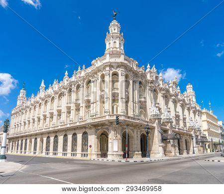 Gran Teatro de La Habana. Big Theater of Havana. One of the main points of interest in Havana city, Cuba.