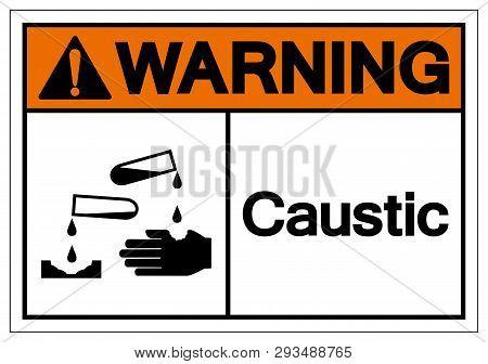 Warning Caustic Symbol Sign, Vector Illustration, Isolate On White Background Label .eps10