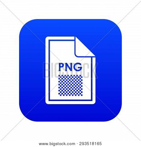 File PNG icon digital blue for any design isolated on white vector illustration poster