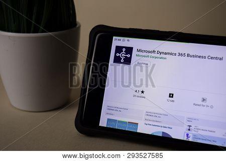 Bekasi, West Java, Indonesia. April 5, 2019 : Microsoft Dynamics 365 Business Central Dev Applicatio