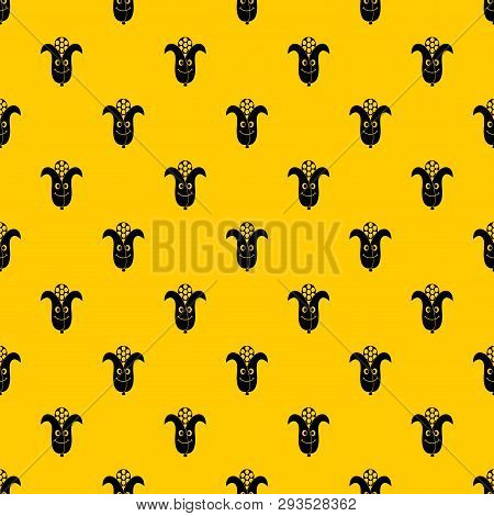 Fresh Smiling Corncob Pattern Seamless Vector Repeat Geometric Yellow For Any Design