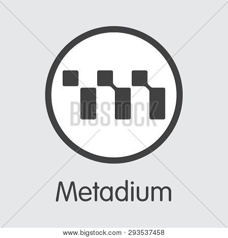 Meta - Metadium. The Logo Of Money Or Market Emblem.