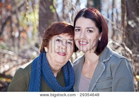 Portrait Of Happy Adult Mother And Daughter