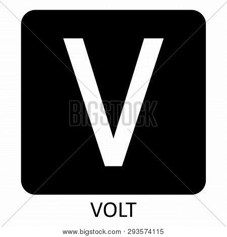 White Volt V Symbol Illustration On Dark Background