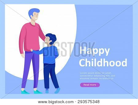 Landing Page Templates For Happy Fathers Day, Child Health Care, Happy Childhood And Children, Goods