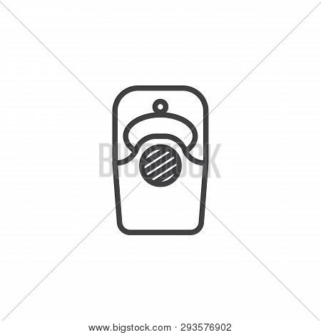 Intercom Line Icon. Linear Style Sign For Mobile Concept And Web Design. Video Doorbell Outline Vect
