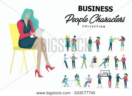 Businessmen Making Handshake, Business Etiquette, Merger Concepts Office Workers, Clerks Or Managers