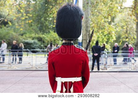 London United Kingdom, October 23 2018: The Guards Of The Buckingham Palace During The Traditional C