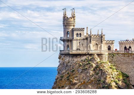 Castle Of Swallow's Nest On A Cliff, Crimea, Russia