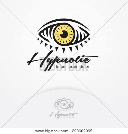Eye Symbol Of Magic And Hypnotist. Creative Vision Logotype Concept. Eye Emblem Design - Vector Illu
