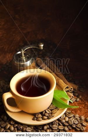 Cup Of Coffee And Cinnamon