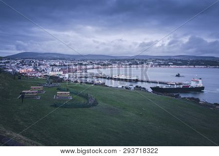 Panorama Of Douglas On The Isle Of Man. Douglas, Isle Of Man.