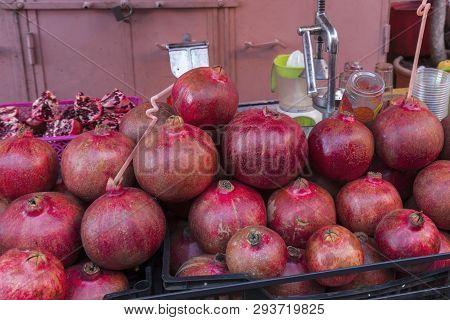Pomegranate Juice Stand In Marrakesh. Marrakesh, Marrakesh-safi, Morocco.